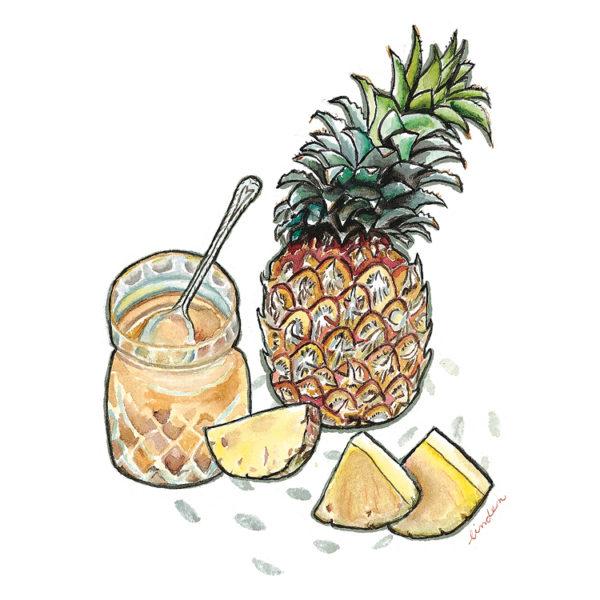 pineapple illustration jam
