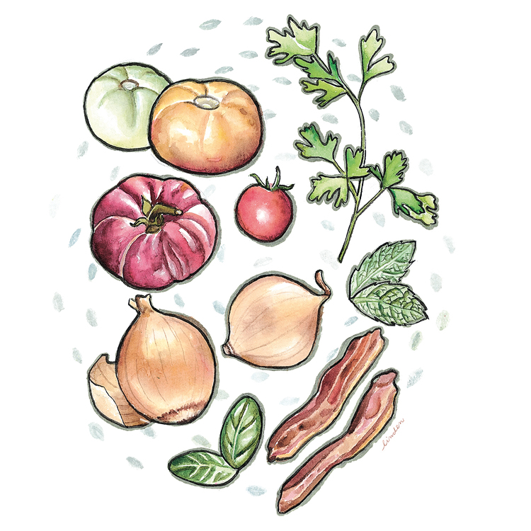 vegetables illustration floating