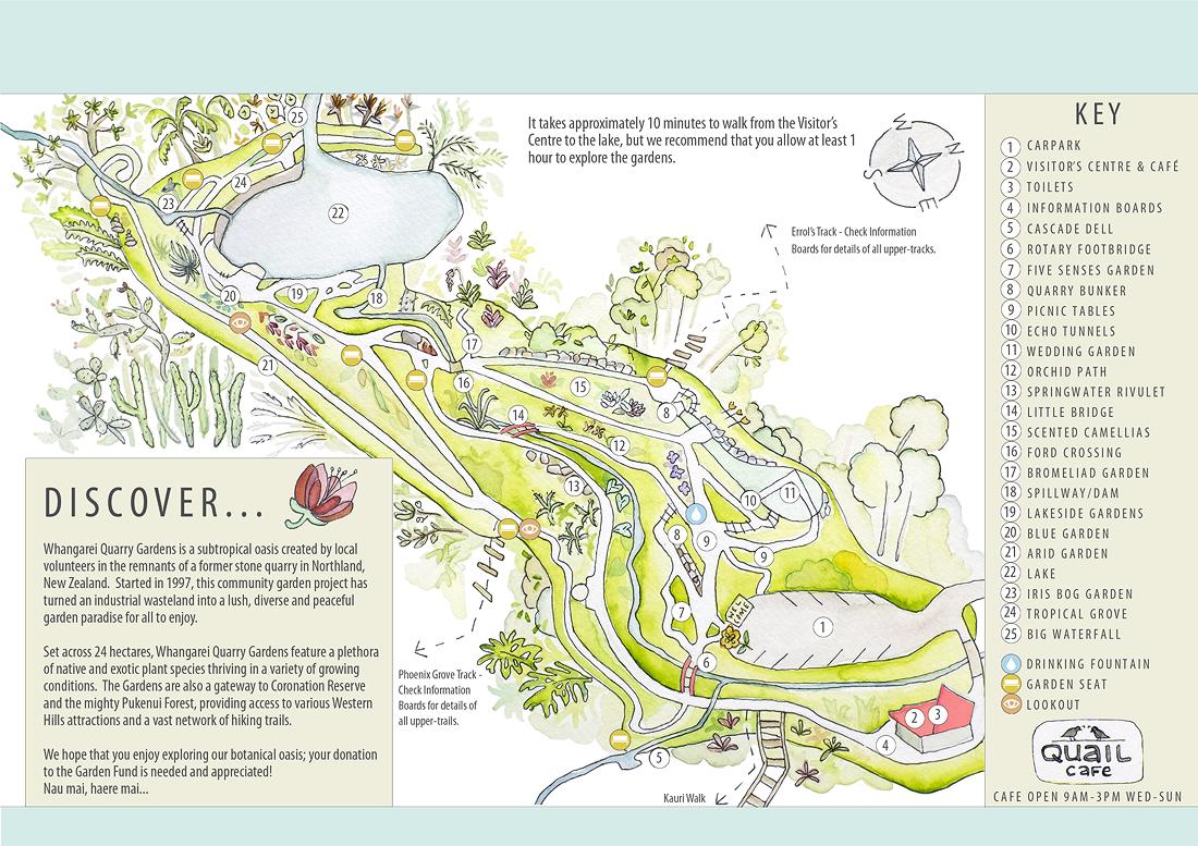 garden map illustrated new zealand