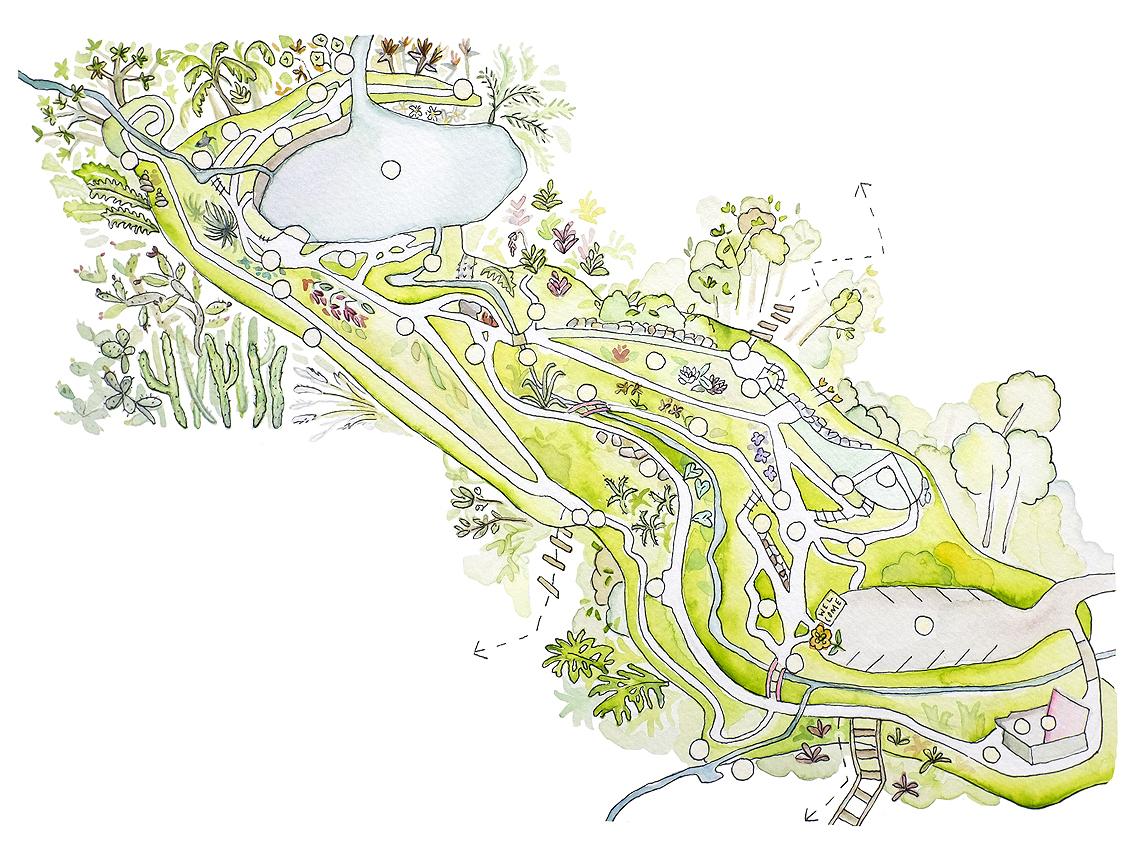 garden map illustrated