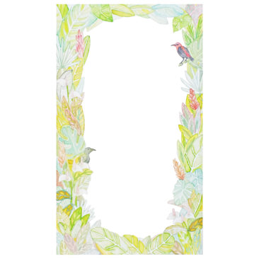 tropical botanical border illustration